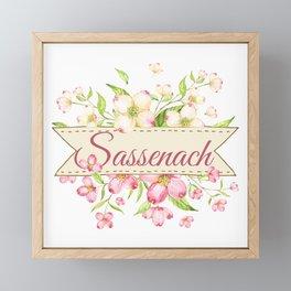 SASSENACH FLOWERS Framed Mini Art Print