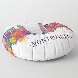 Montevideo Uruguay Skyline Floor Pillow