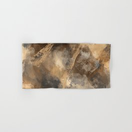 Stormy Abstract Art in Brown and Gray Hand & Bath Towel