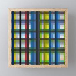 colorful striking retro grid pattern Nis Framed Mini Art Print
