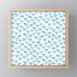 Diamonds fest Framed Mini Art Print