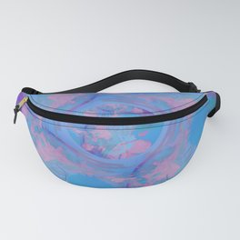 Blue Abstract Globe Design Fanny Pack
