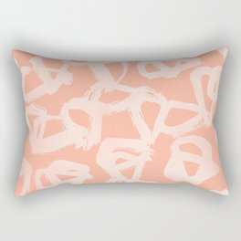 Sweet Life Triangle Dots Peach Coral Pink Rectangular Pillow