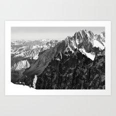 French Alps, Chamonix, France. (2) Art Print
