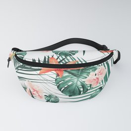 Tropical Flowers & Leaves Paradise #2 #tropical #decor #art #society6 Fanny Pack