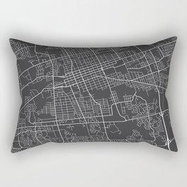 London Map, Canada - Gray Rectangular Pillow