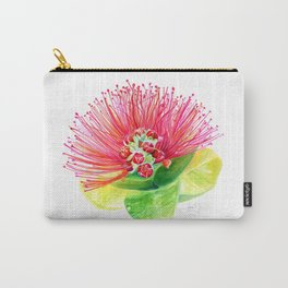 Red Flower / Ohia Lehua Carry-All Pouch