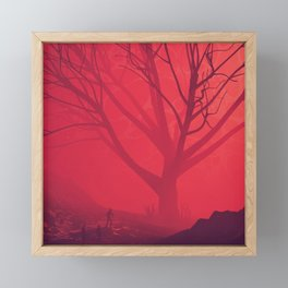Big Red Framed Mini Art Print