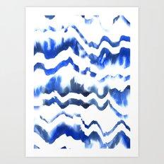 Blue Water Love #1 Art Print