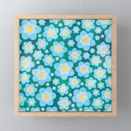 Blue Flower Fields Framed Mini Art Print