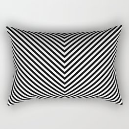 Back and White Lines Minimal Pattern Basic Rectangular Pillow