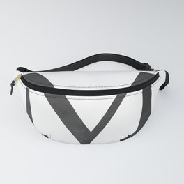 Letter M Initial Monogram Black and White Fanny Pack