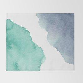 Watercolor Drops Throw Blanket