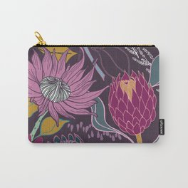 Lusciously Moody Proteas Carry-All Pouch