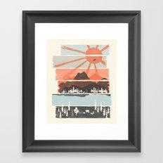 Morning by Bear River... Framed Art Print