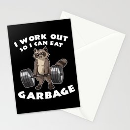 I Work Out So I Can Eat Garbage | Fitness Training Stationery Cards