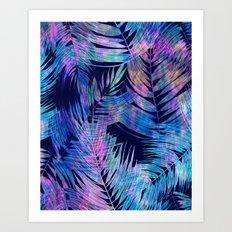 Waikiki Tropic {Blue} Art Print