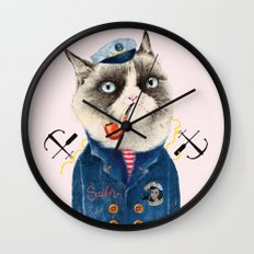 Sailor Cat VII Wall Clock