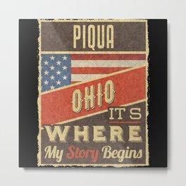 Piqua Ohio Metal Print