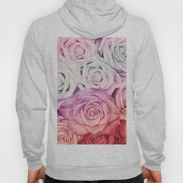 Some people grumble II  Floral rose flowers pink and multicolor Hoody