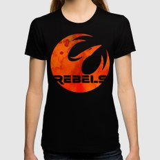 Star Wars Rebels LARGE Womens Fitted Tee Black