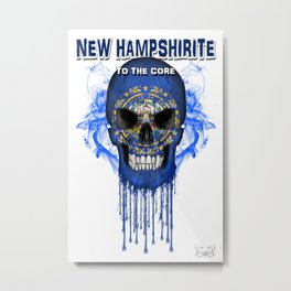To The Core Collection: New Hampshire Metal Print