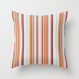 Combined Stripe Pattern - Clear Sailing Colorway Throw Pillow