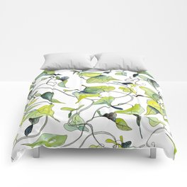 Blue and Green Vines, Pattern Comforters