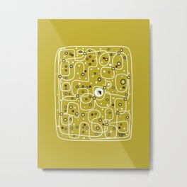 Seguridad [Gold] Metal Print