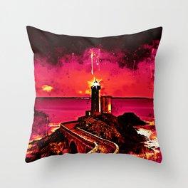 lighthouse plouzane wsor Throw Pillow
