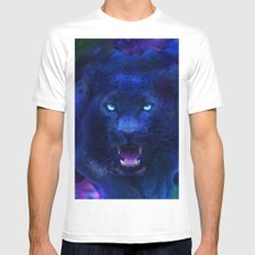 Panther MEDIUM Mens Fitted Tee White