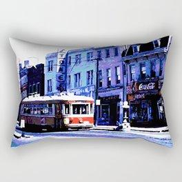 Trolley Car Rectangular Pillow