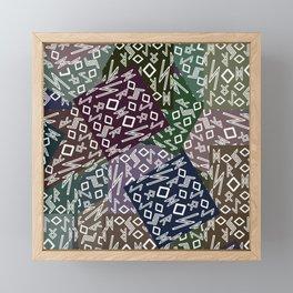 Runic patchwork II Framed Mini Art Print
