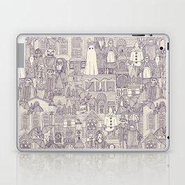 vintage halloween purple ivory Laptop & iPad Skin
