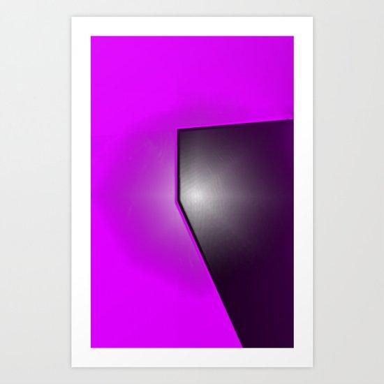 PURPLE BLACK Art Print