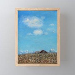 Over the Rise Framed Mini Art Print