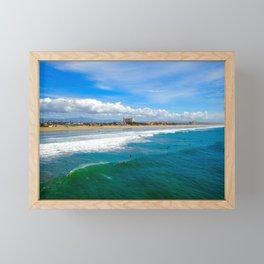 Huntington Beach Surfers Framed Mini Art Print