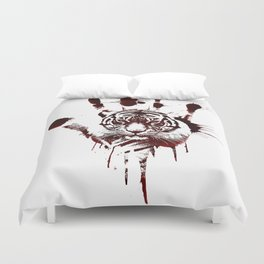 Conflict of Tiger Duvet Cover