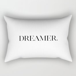 Dreamer, Typographic Poster, Inspirational Print, Typography Art, Printable Art Rectangular Pillow