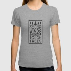 TOUGH TREES Womens Fitted Tee X-LARGE Tri-Grey