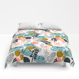 late summer floral Comforters