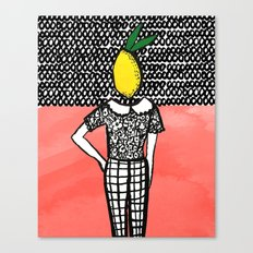Lemon Head Canvas Print