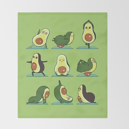Avocado Yoga Throw Blanket