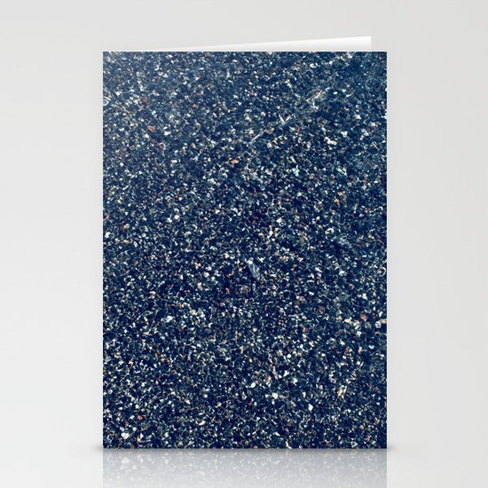 Black Sand II (Blue) Stationery Cards