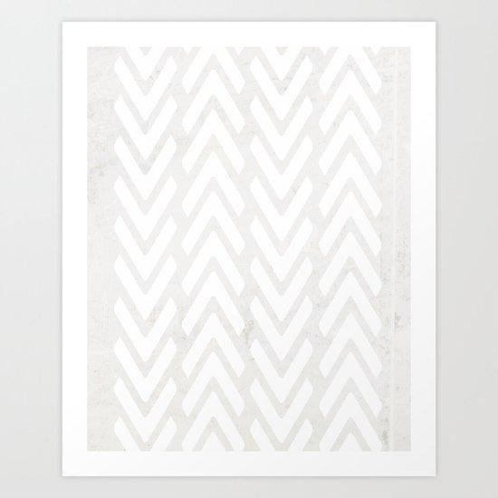 Chevron Tracks Art Print