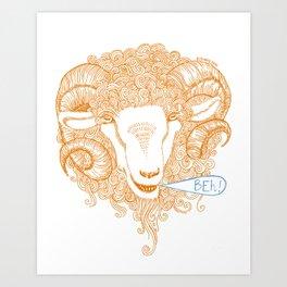 Beh! Art Print