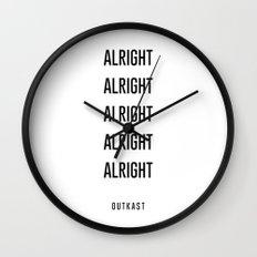 alright alright alright Wall Clock