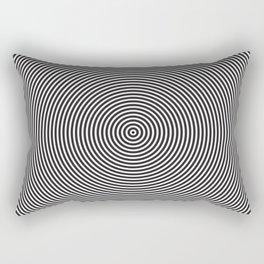 op art - circles Rectangular Pillow
