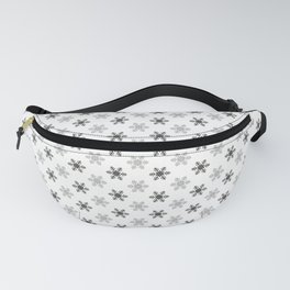 Snowflake Pattern   Black and White Fanny Pack