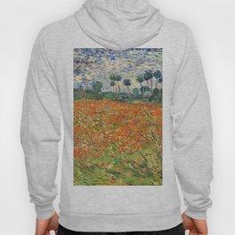 Poppy Field by Vincent van Gogh, 1890 painting Hoody